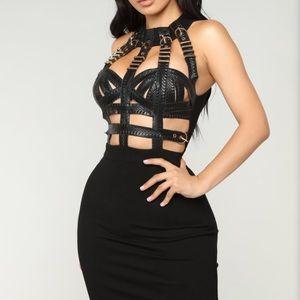 Queen Status Mini Dress - Black